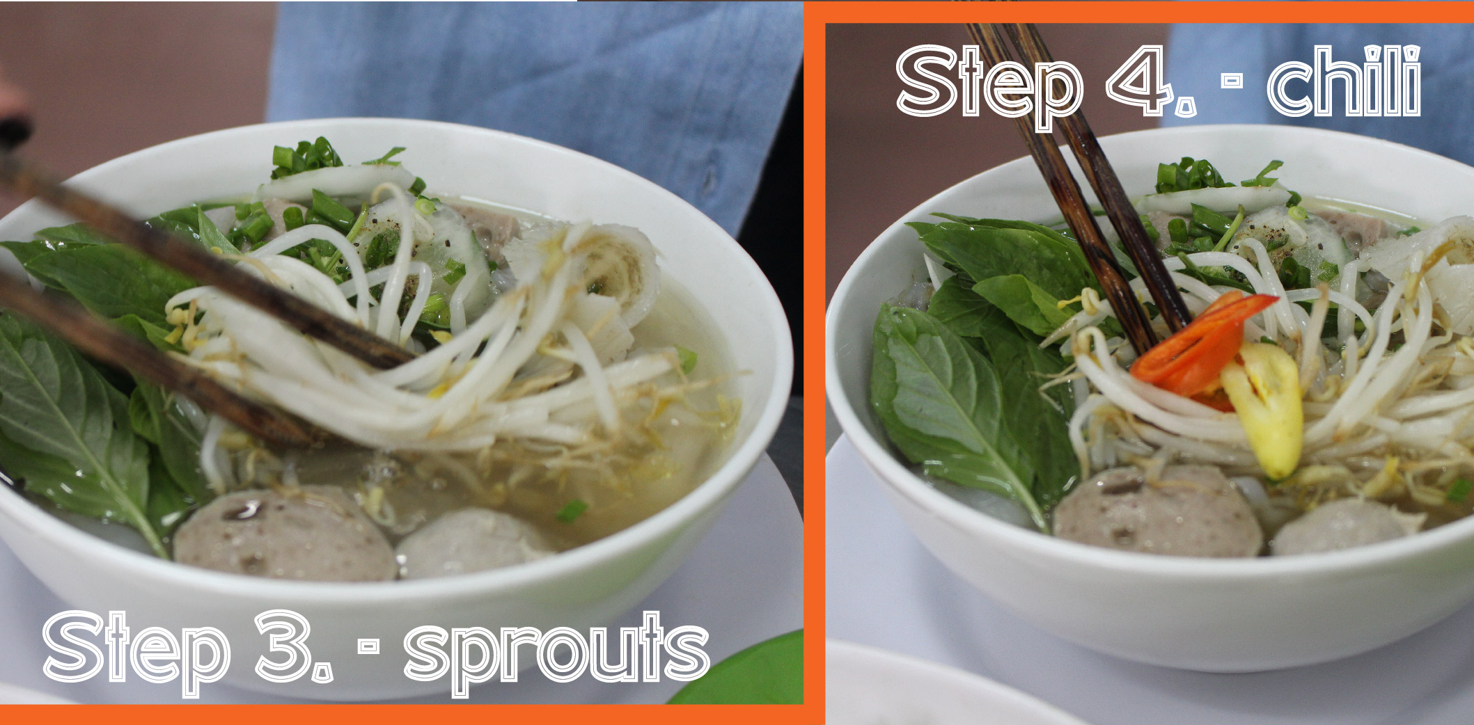 how to eat pho