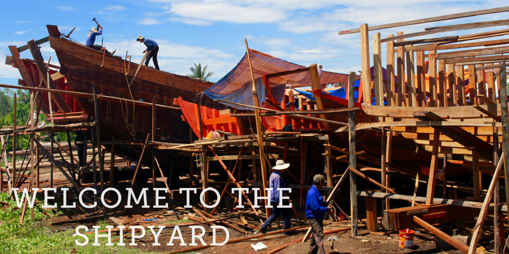 Welcome to the Vietnamese shipyard.