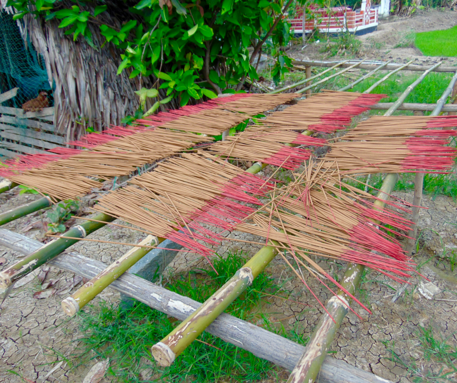 5.Incense Drying Under Sun