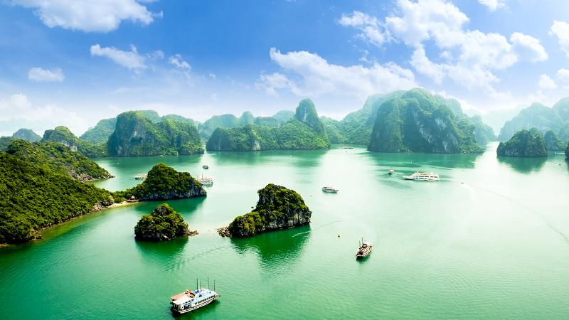 Bird's eye view of halong bay