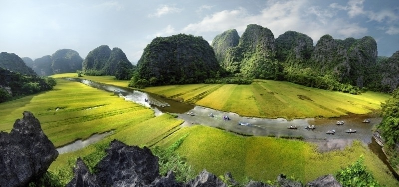 The limestone mountains of Ninh Binh