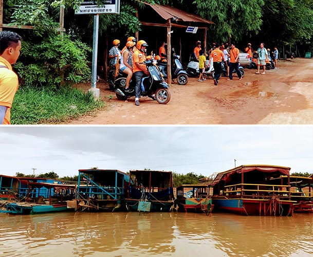 Tonle Sap Lake Siem Reap Stilted Village Vespa Adventures