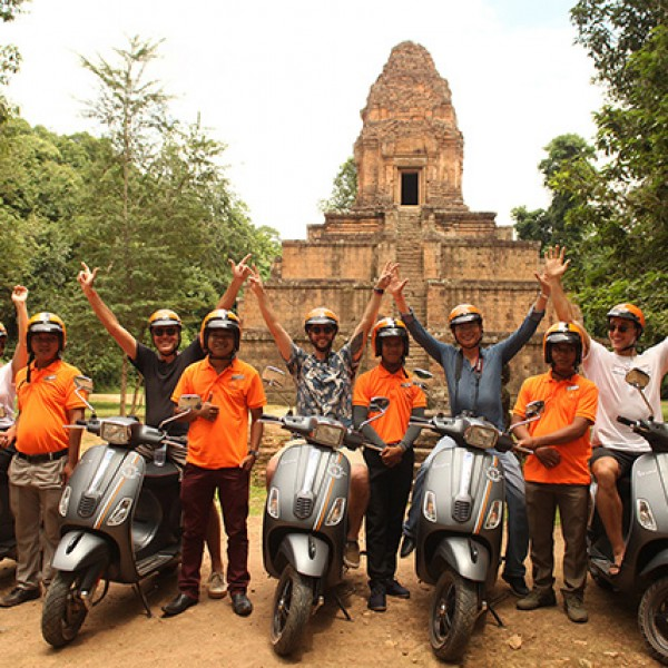 Our Angkor Bike Tour Vespa Adventures