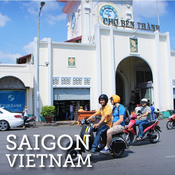 Explore Saigon, also known as Ho Chi Minh City, Vietnam on a Vespa Adventure.